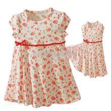Платье ребенка ну вечеринку новый конструктор фрок маленькая девочка платье импортные бантом одежды малыша простой цветочный vetement fille халат bebe(China (Mainland))