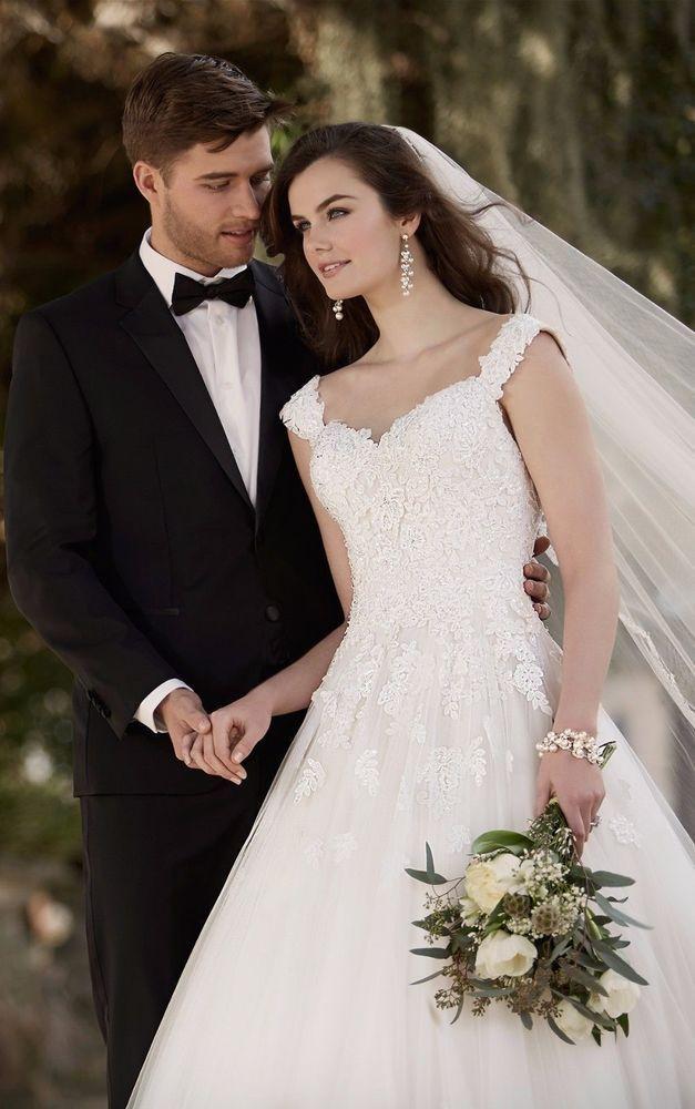 Elegant New White Ivory Lace Ball Gown Wedding Dress Bridal Gown Custom Size #Handmade