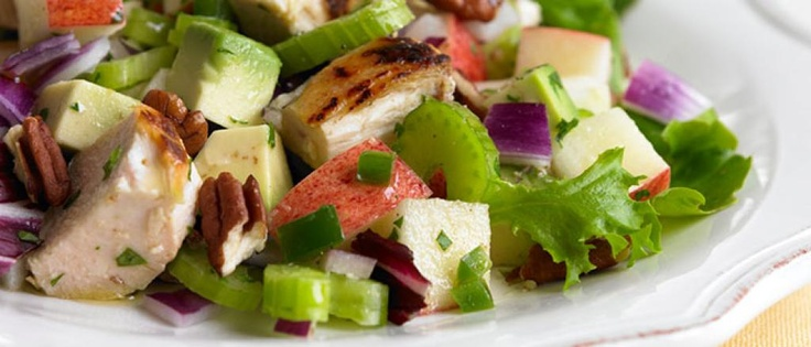 #BiggestLoser Appetizer: Avocado and Apple Chicken Salad