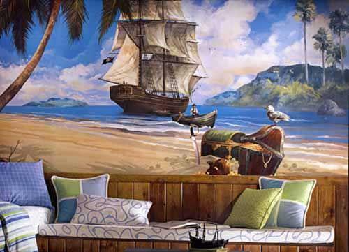 Pin Pirates Kids Room Wall Mural Sticker Decal Wallies On Pinterest