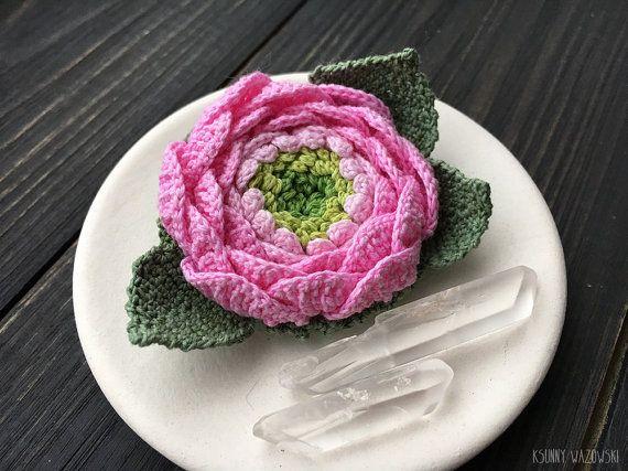 Flower brooch Broch Flower wedding acsessory by ksunnywazowski