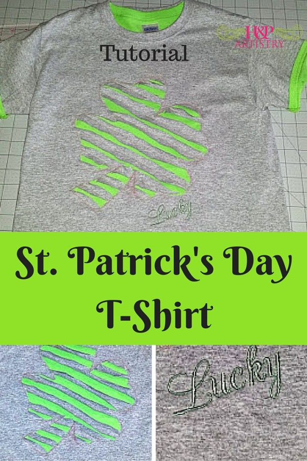St. Patrick's Day T-Shirt Tutorial from H&P Artistry