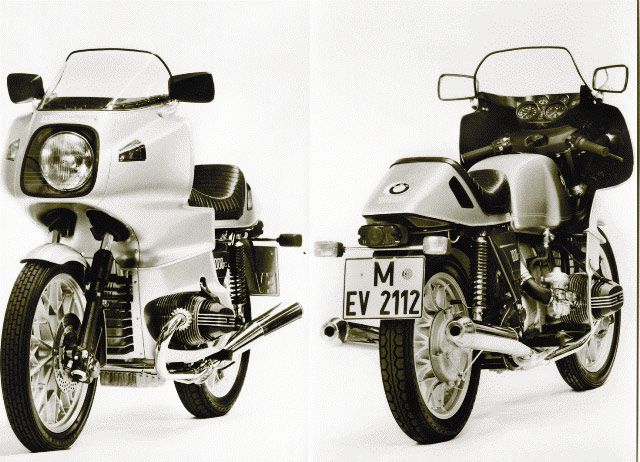 Factory photos of the 1977 BMW R100RS with alloy wheels. This was my first bike. I love the looks and the effective protection against wheather, the stability at higher speeds... hpf