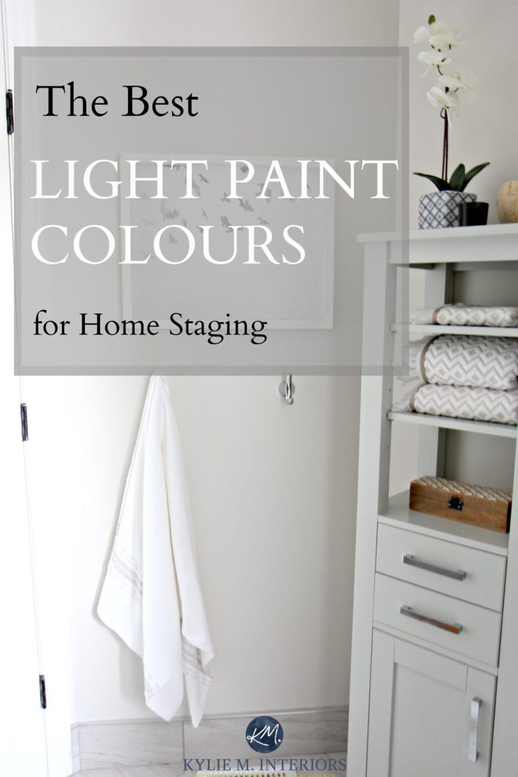 The best light and neutral paint colours for home staging and selling by Kylie M Interiors
