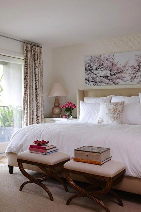Interior Serene Bedroom Ideas best 25 serene bedroom ideas on pinterest stripe wallpaper pink anne hepfer designs design with wingback style upholstered headboard the elegant bed