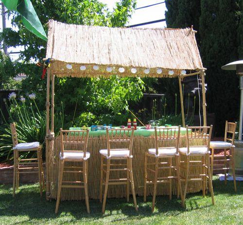 Tiki Hut Daytime Hawaiian Luau PartyHawaiian ThemeOutdoor