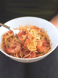 This Little Italy favorite is made from little more than crushed tomatoes, white wine, and a pinch of red pepper flakes. The sauce adds the perfect kick to filling spaghetti and protein-packed shrimp.