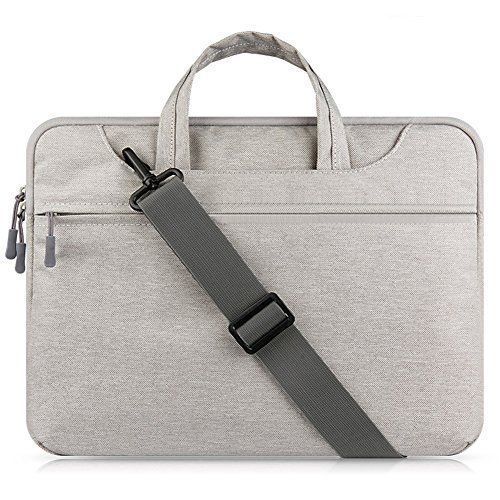 Laptop Bag Carrying Case Tablet Sleeve Briefcase Messenger Storage 15.6'' Gray #LaptopCase