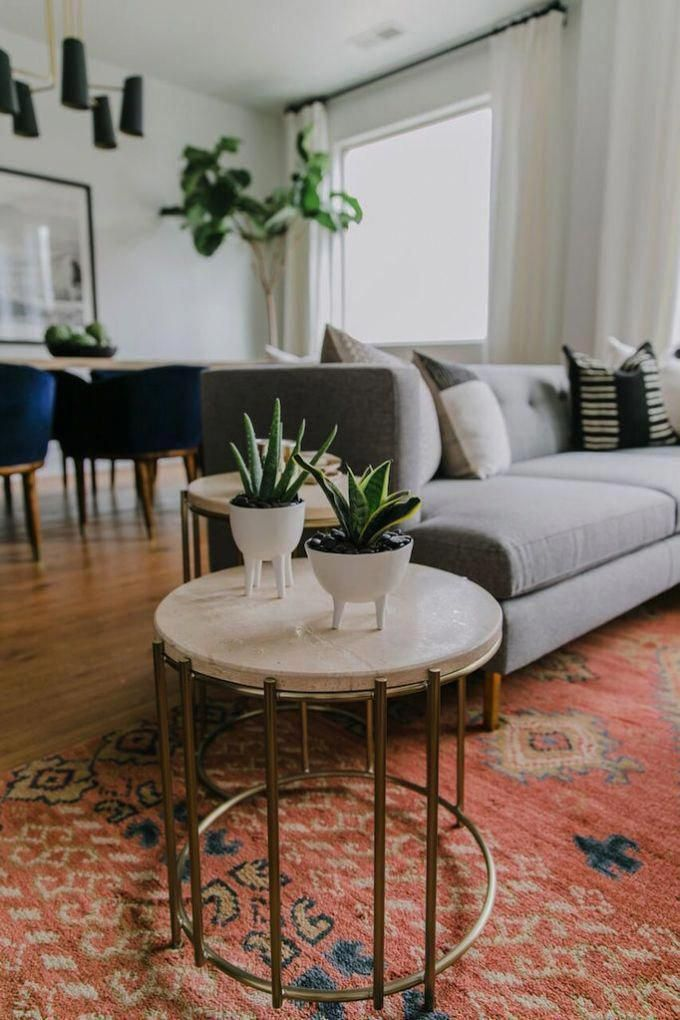 We Lay Out The 12 Steps That Will Get You From Blank Slate To Stunning Area And How To Tackle It Warm Home Decor Brown Living Room Decor Rugs In Living Room
