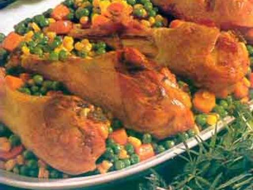 Secondo piatto. cosce di pollo arrosto