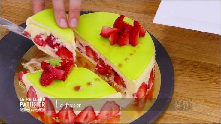 Le fraisier de Mercotte une recette de Le meilleur pâtissier l'émission sur M6