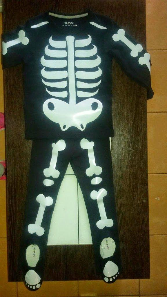 Tutorial DIY disfraz casero niño esqueleto