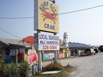Surf City Crab - the place to go on Topsail Island for incredible fresh seafood right off the boats!