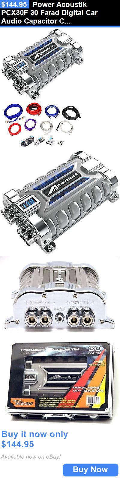 17 best ideas about car audio loudspeaker enclosure capacitors power acoustik pcx30f 30 farad digital car audio capacitor cap amp kit buy