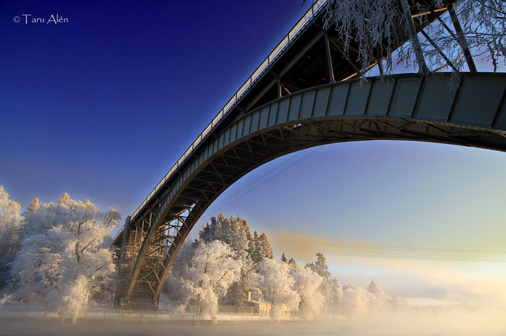 -30 degrees, Railwaybridge in Heinola Finland