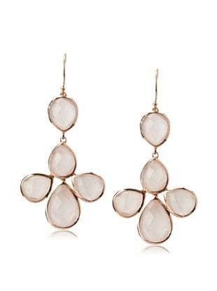 62% OFF Argento Vivo Rose Quartz Petal Drop Earrings