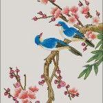 "Free cross-stitch pattern ""Birds"" | Cross-Stitch Club"