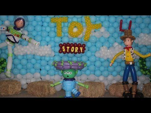 Ideas para sus fiesta de Toy Story, Buzz Lightyear, sheriff Woody y Jessie - YouTube