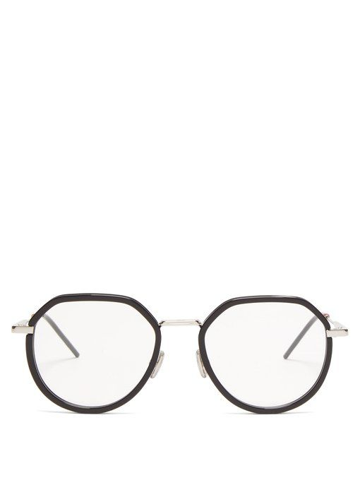 a3a0ec350aef8 DIOR HOMME Round-frame acetate and metal glasses.  diorhomme