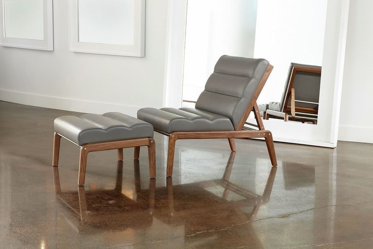 • Chairs • Morris Chair American Leather Walnut Collection | American Made…
