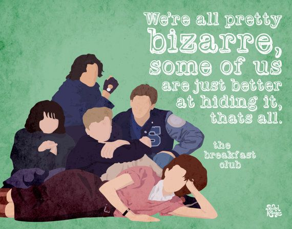 Breakfast Club Print by KruegerSewCrafty on Etsy