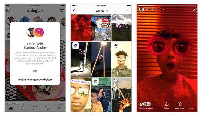 Instagram Update: Stories archivieren und Highlights posten