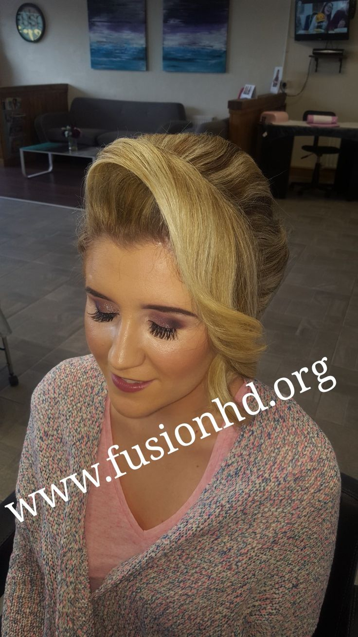 Quiff at front with a soft curl #fusionhd