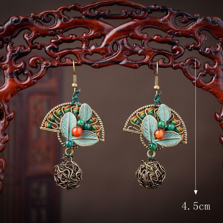Ethnic Cute Earrings Sector Agate Ball Earrings online - NewChic