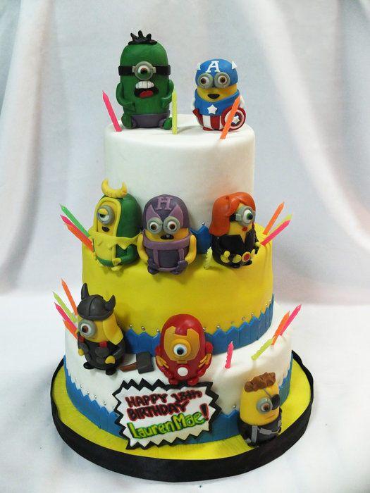minion, avengers cake