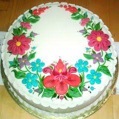 Magyar motívomos torta