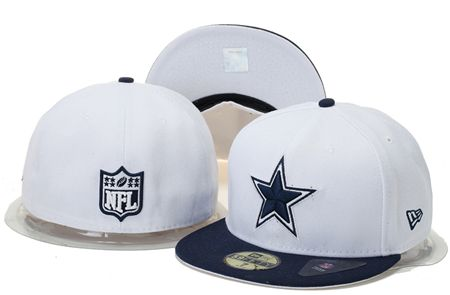 Dallas Cowboys New Era NFL59 FIFTY Fitted White Cap