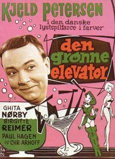 Den grønne elevator (1961) Hans kone vil gå fra ham, og hvad gør man så? Drikker sig fuld.