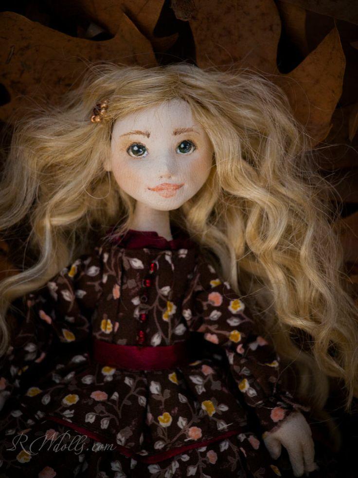 ''Linda'' a handmade ooak textile doll by Romantic Wonders
