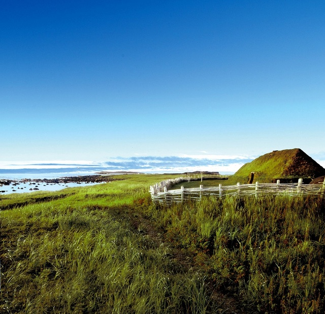Sod House, L'Anse aux Meadows by Newfoundland and Labrador Tourism--first settlers village (vikings)
