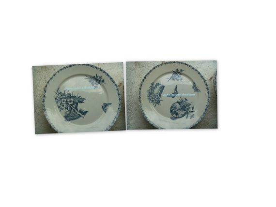 Rare Dinner Plates  Found In France by JanniesJunkandJems on Etsy