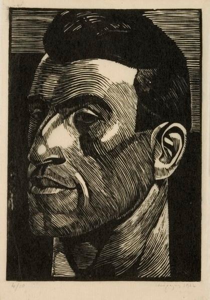 Μόραλης Γιάννης (b.1916-2009)    1932 ξυλογραφία σε πλάγιο ξύλο  Χαρακτική