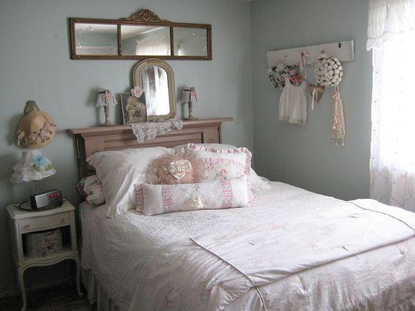 Feminine Shabby Chic Bedroom.