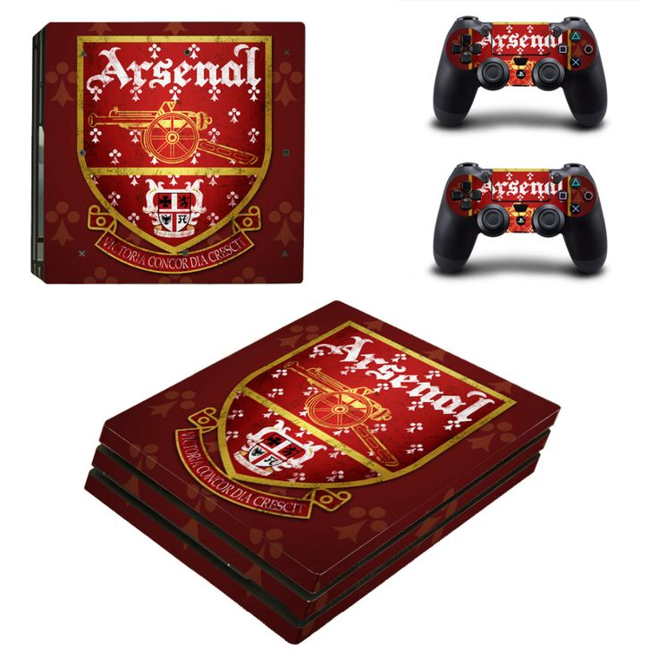 Arsenal Football Team PS4 Pro Skin Sticker Decal For Sony PS4 PlayStation 4 Pro Console and 2 Controllers Stickers  #Affiliate