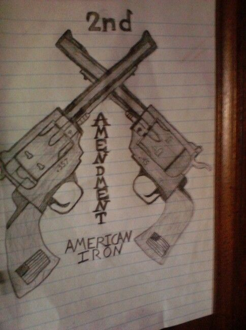 second amendment drawing by shayne degrave tattoos pinterest drawings. Black Bedroom Furniture Sets. Home Design Ideas