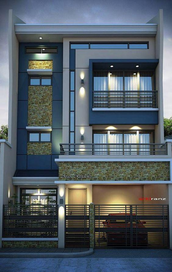 25 melhores ideias sobre fachadas de casas bonitas no for Fachadas de casas e interiores