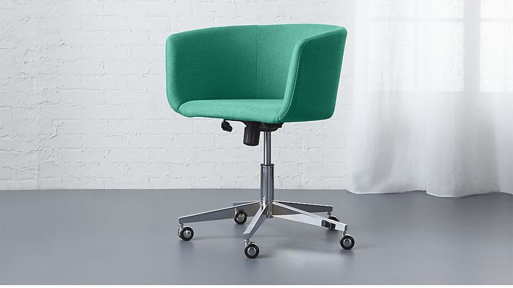 coup teal office chair Harper: Teal Blue | CB2 $329