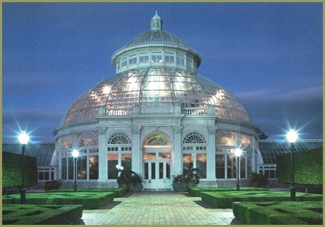 New York Botanical Garden, Bronx (NY) -  Enid A. Haupt Conservatory, largest U.S. Victorian glasshouse