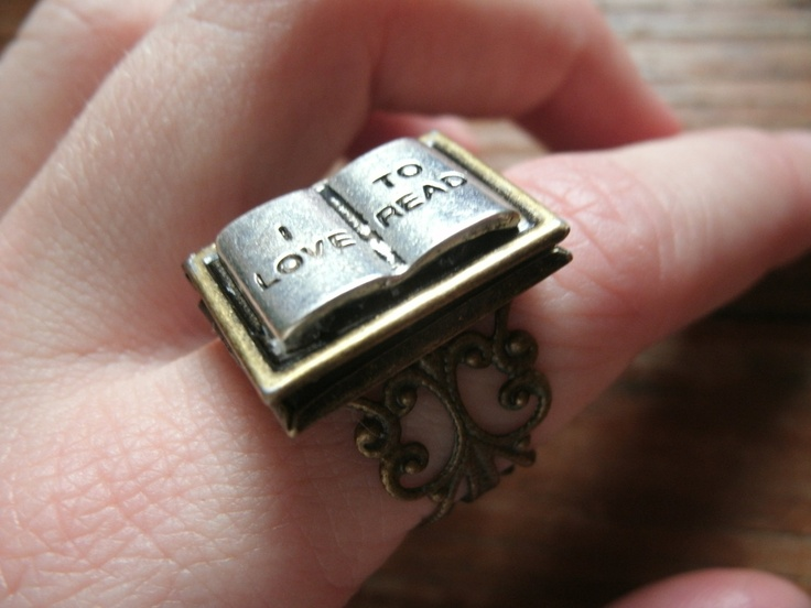 Book Lover's Locket Ring. .