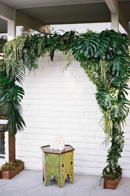 Arco flores tropical