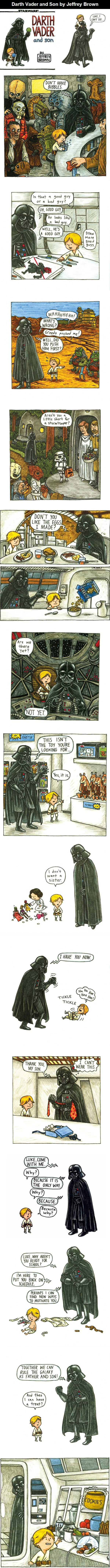 Darth Vader and Son. Love the 'I don't want a sister'
