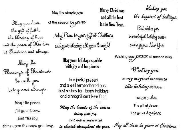 Funny Pictures: Christmas Greeting Card Verses and Sentiments