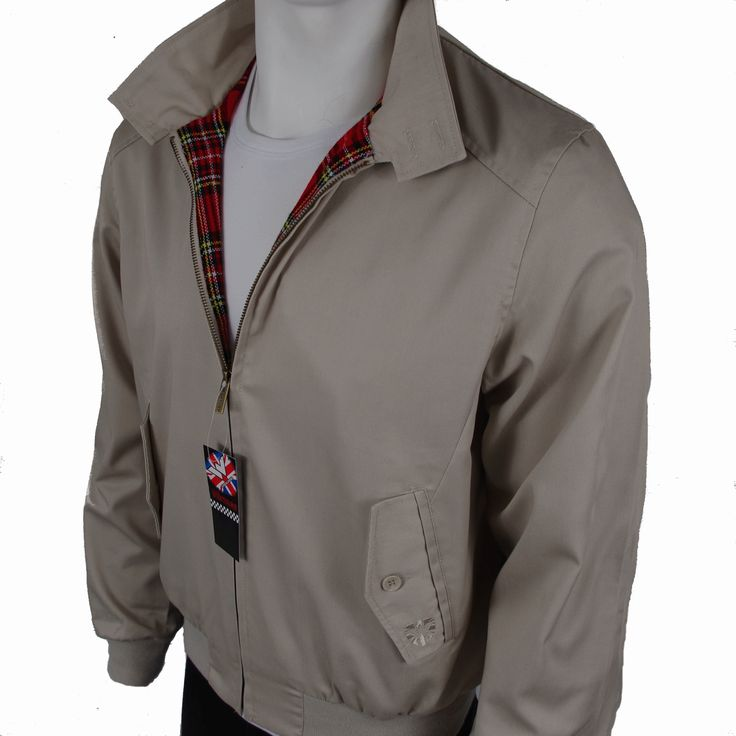 Prestige Beige Vented Harrington Jacket Mod and Skinhead Clothing