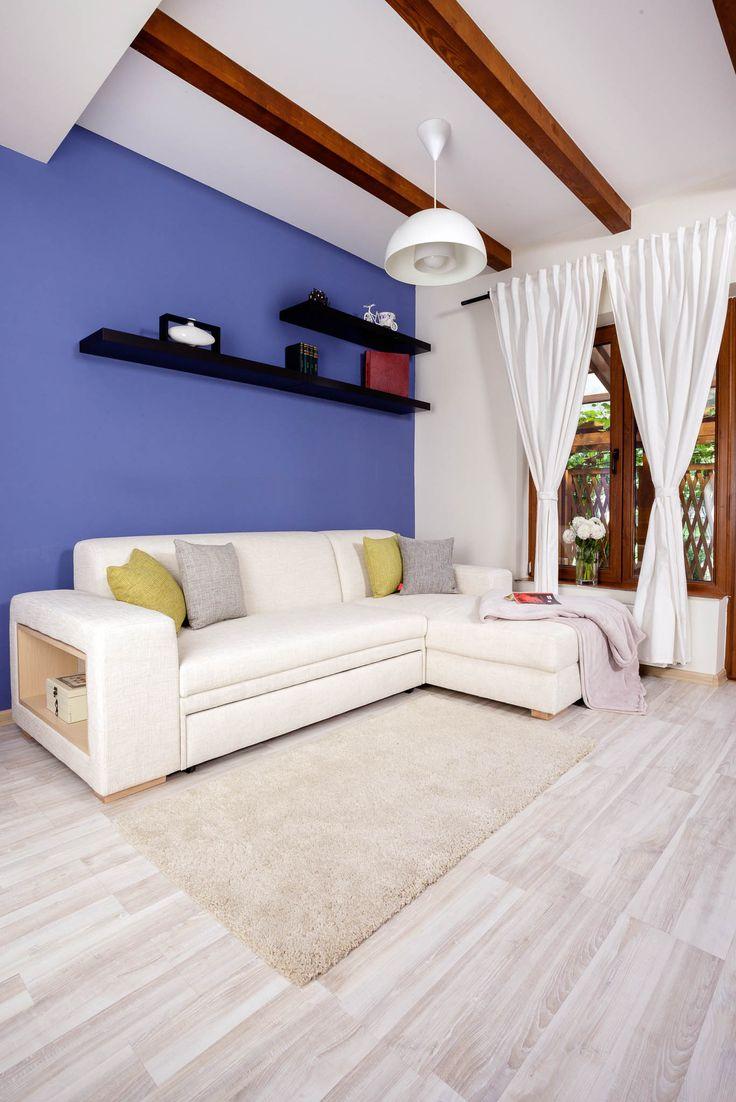 A-maze L-shape Extensible Sectional / Colour: Snow #sofa #sofabed #sectional #extensible #comfort #interiordesign #home #cozy #storagespace #shelf #inspiration