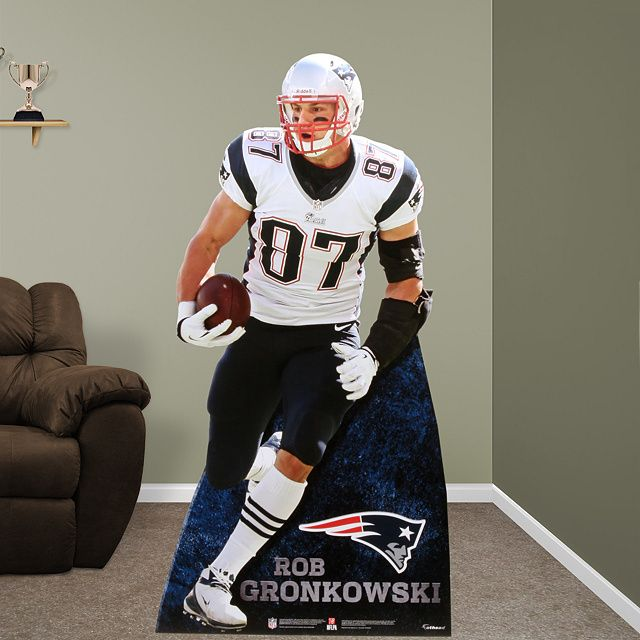 Rob Gronkowski Fathead Stand Out | New England Patriots Man Cave | Party Décor