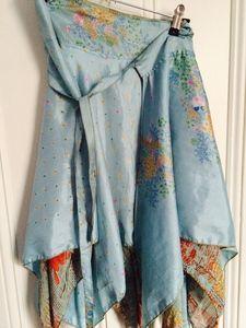 Silk wrap around skirt
